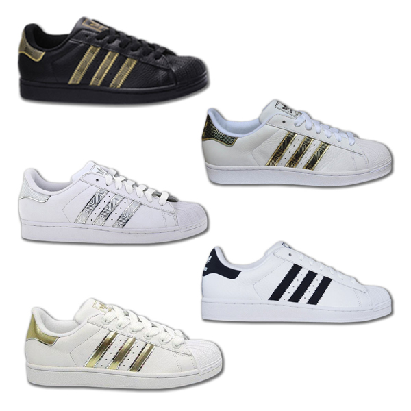 fbc40591f6f8f5 Adidas Superstar Damen Weiß Gold 38 ohne-papa.de
