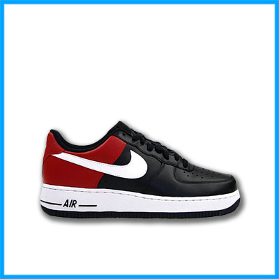 nike air force one schwarz rot