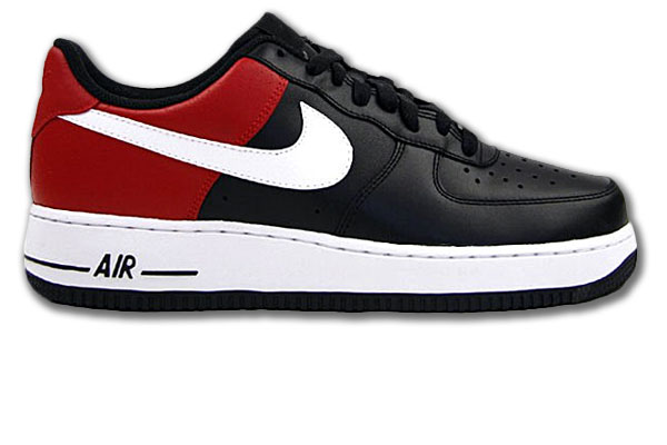nike air force 1 07 schwarz rot weiss low gr 42 50 5. Black Bedroom Furniture Sets. Home Design Ideas