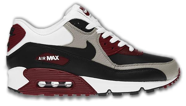 Nike Air Max 90 Dunkelrot aktion