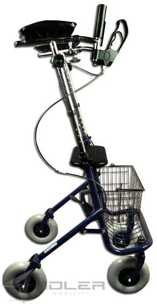 Walker Rollator With Arm Supports Collapsible Ebay